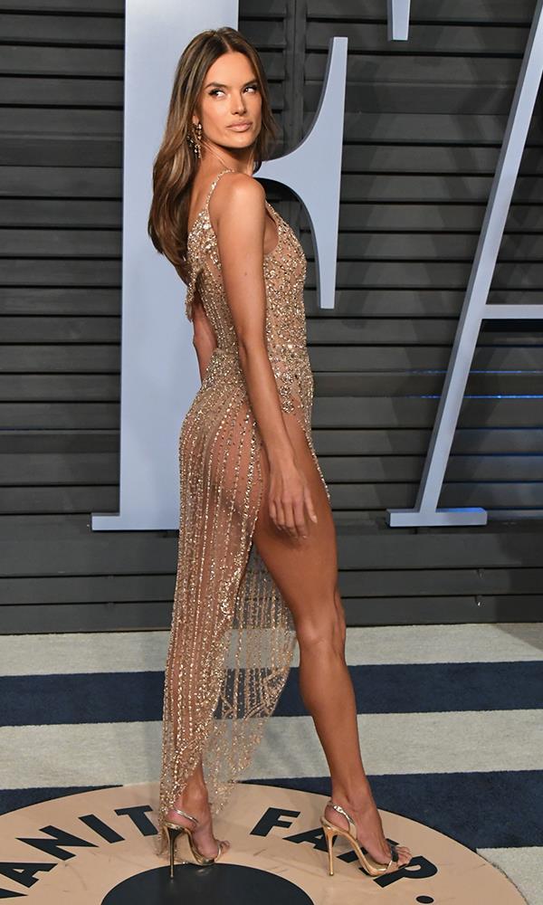 Alessandra Ambrosio at the *Vanity Fair* Oscars party.