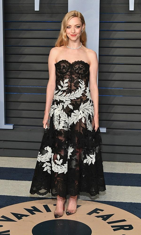 Amanda Seyfried at the *Vanity Fair* Oscars party.