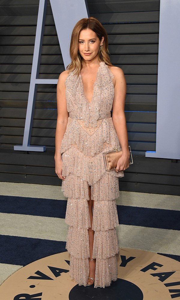Ashley Tisdale at the *Vanity Fair* Oscars party.