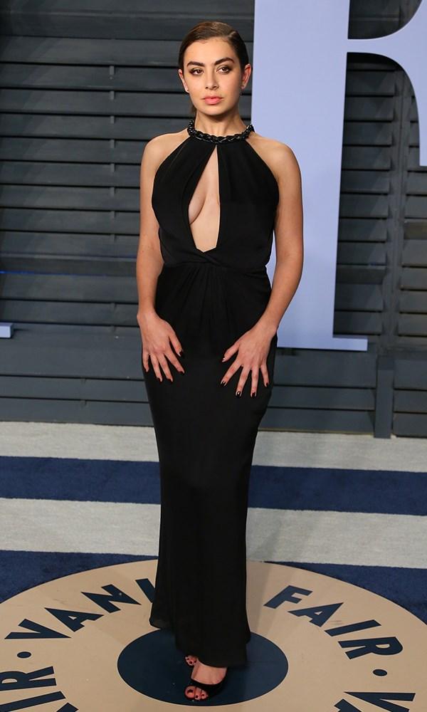 Charli XCX at the *Vanity Fair* Oscars party.