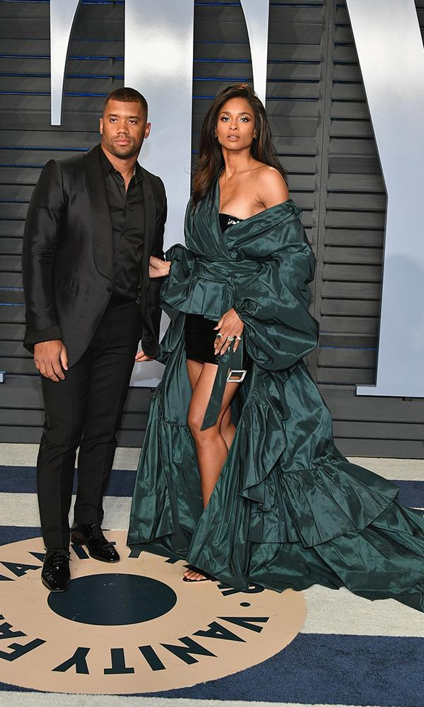 Ciara and Russell Wilson at the *Vanity Fair* Oscars party.