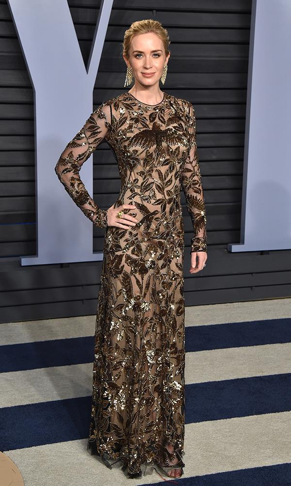 Emily Blunt at the *Vanity Fair* Oscars party.