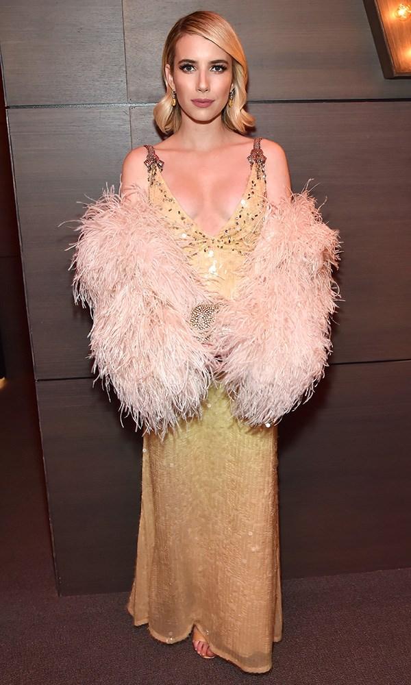 Emma Roberts at the *Vanity Fair* Oscars party.