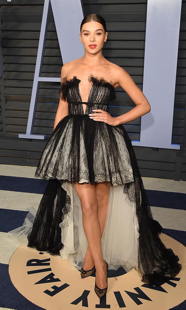 Hailee Steinfeld at the *Vanity Fair* Oscars party.