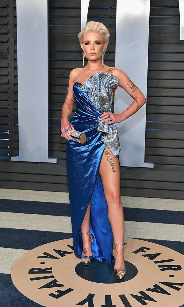 Halsey at the *Vanity Fair* Oscars party.