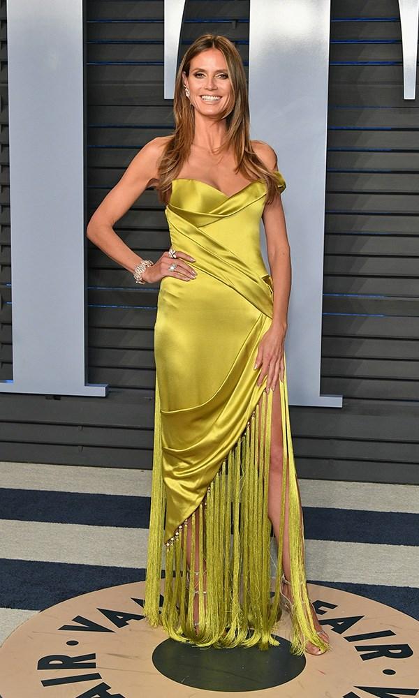 Heidi Klum at the *Vanity Fair* Oscars party.