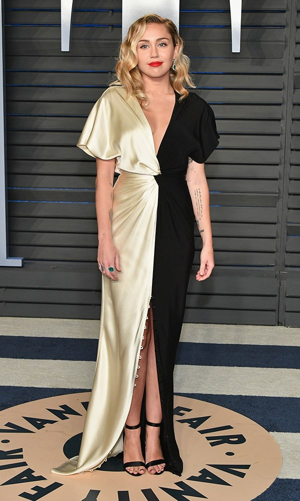 Miley Cyrus at the *Vanity Fair* Oscars party.