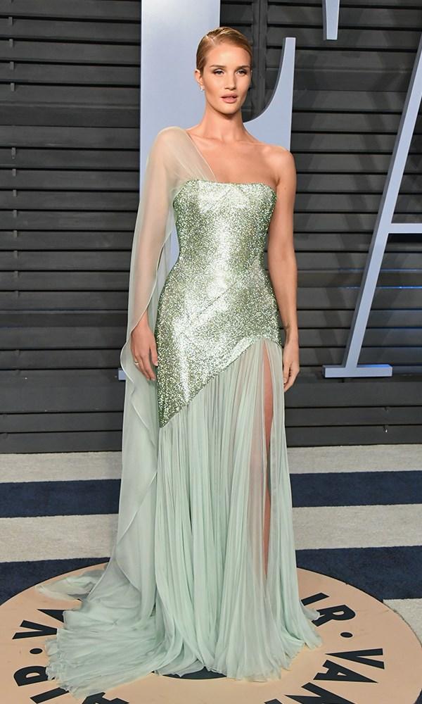 Rosie Huntington-Whiteley at the *Vanity Fair* Oscars party.
