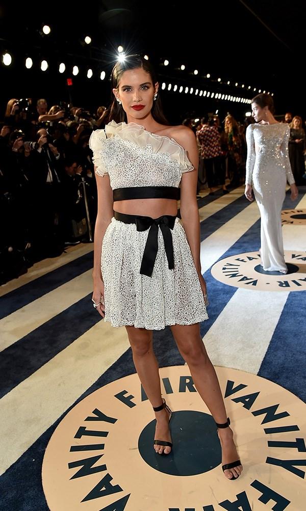 Sara Sampaio at the *Vanity Fair* Oscars party.