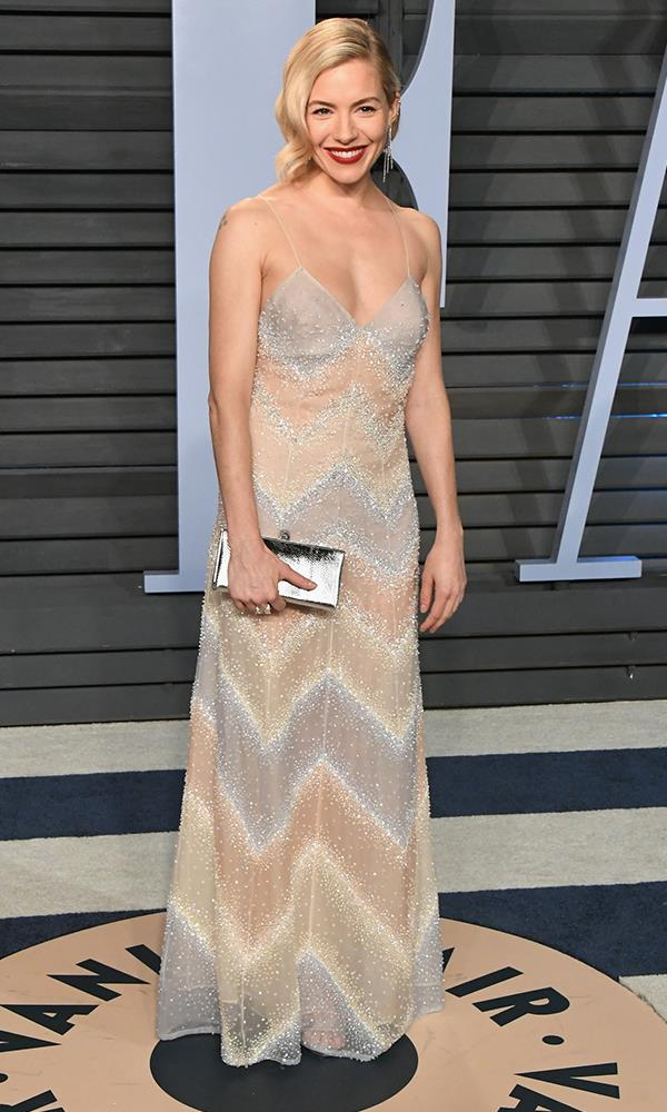 Sienna Miller at the *Vanity Fair* Oscars party.
