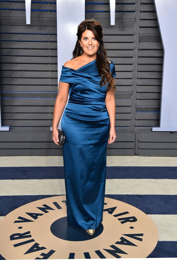 Monica Lewinsky at the *Vanity Fair* Oscars party.