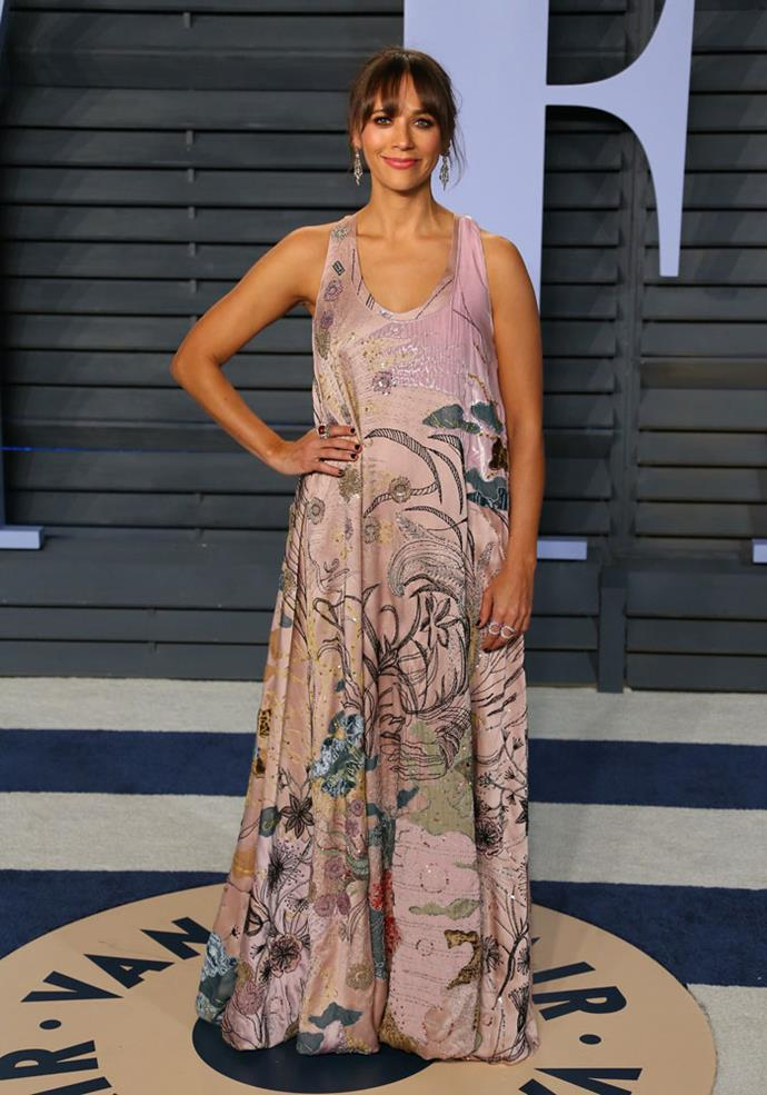 Rashida Jones at the *Vanity Fair* Oscars party.