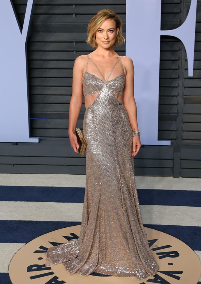 Olivia Wilde at the *Vanity Fair* Oscars party.