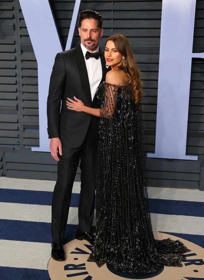 Joe Manganiello and Sofia Vergara at the *Vanity Fair* Oscars party.