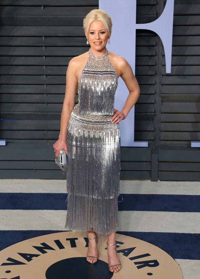 Elizabeth Banks at the *Vanity Fair* Oscars party.