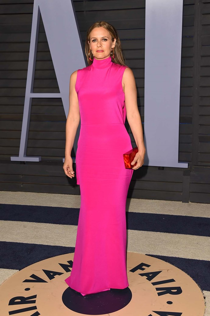 Alicia Silverstone at the *Vanity Fair* Oscars party.