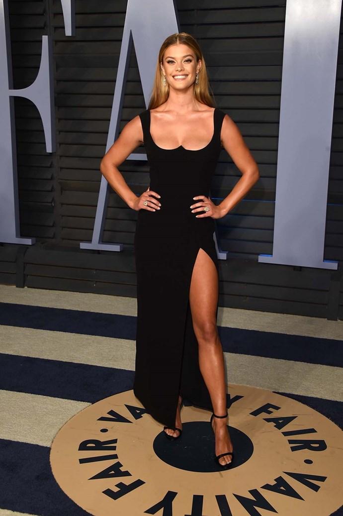 Nina Agdal at the *Vanity Fair* Oscars party.