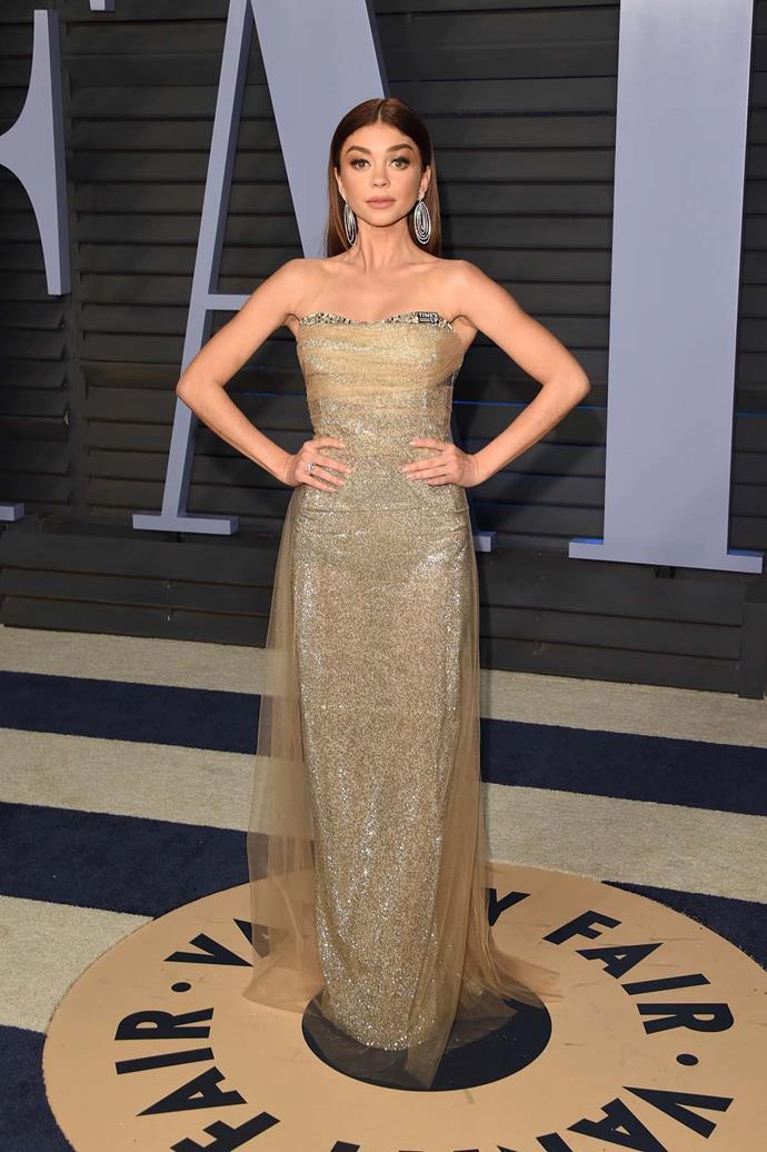 Sarah Hyland at the *Vanity Fair* Oscars party.