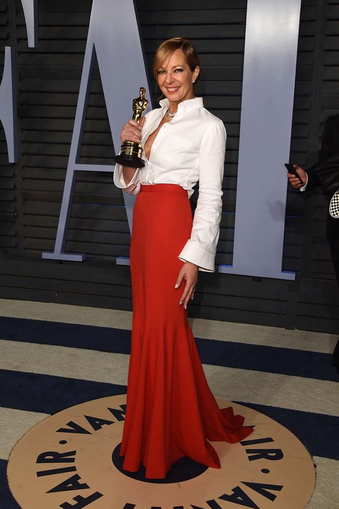 Allison Janney at the *Vanity Fair* Oscars party.
