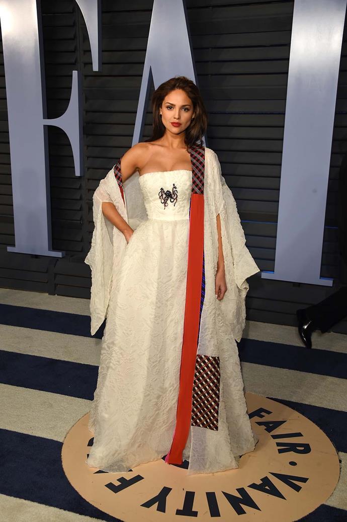 Eiza González at the *Vanity Fair* Oscars party.