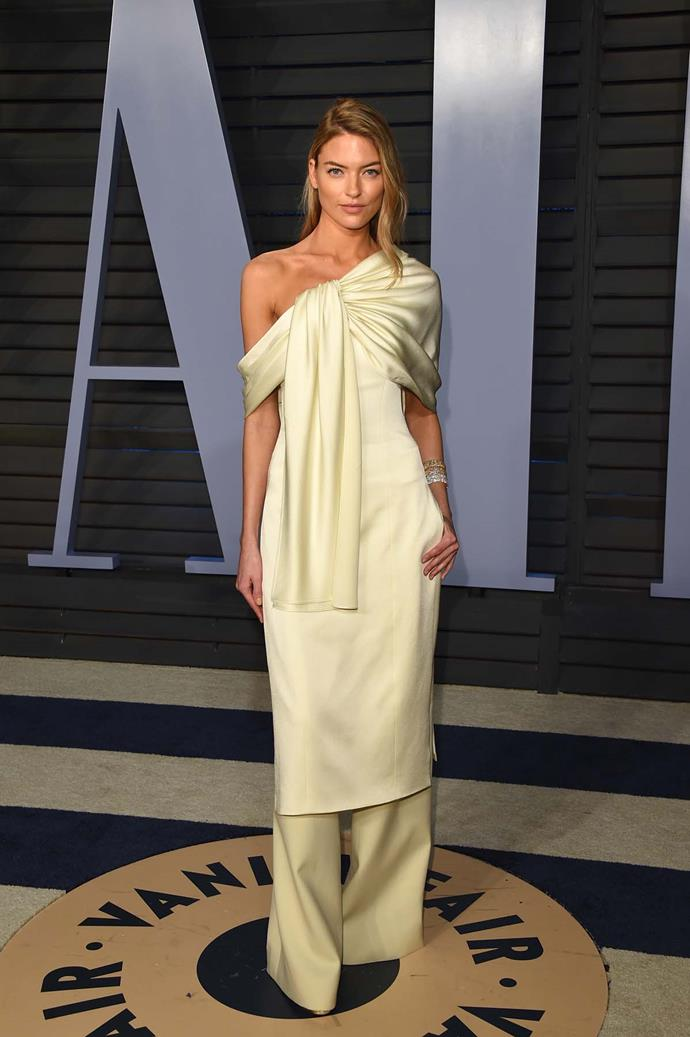 Martha Hunt at the *Vanity Fair* Oscars party.