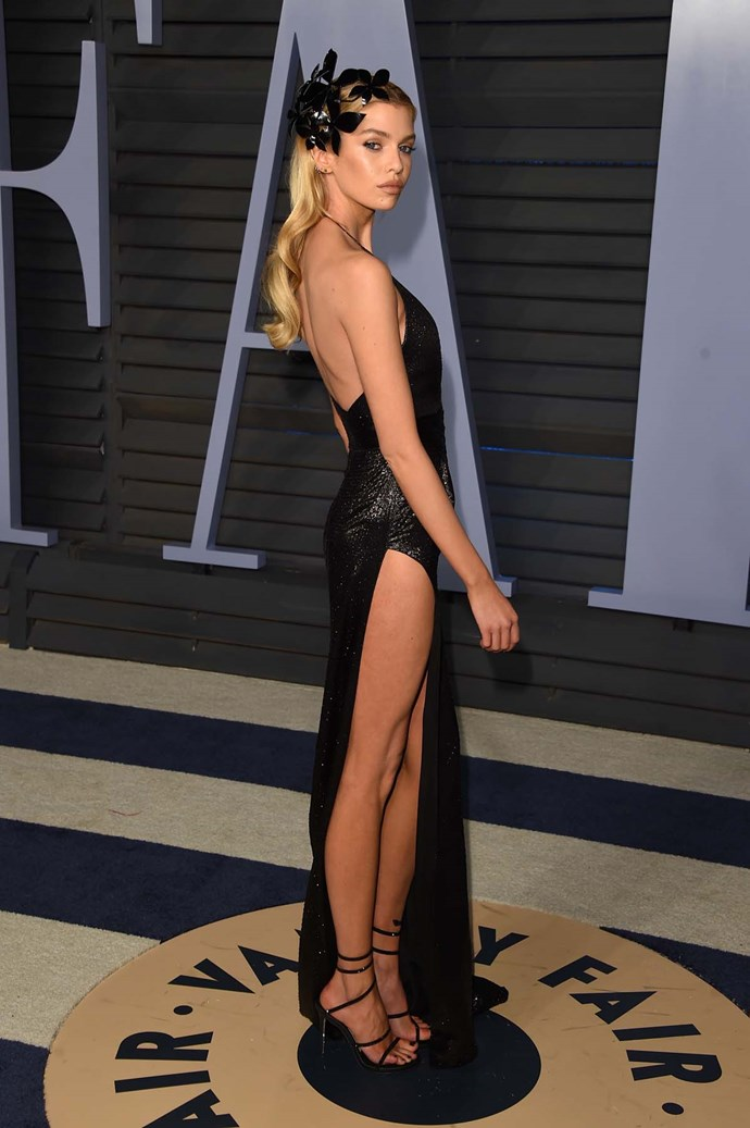 Stella Maxwell at the *Vanity Fair* Oscars party.