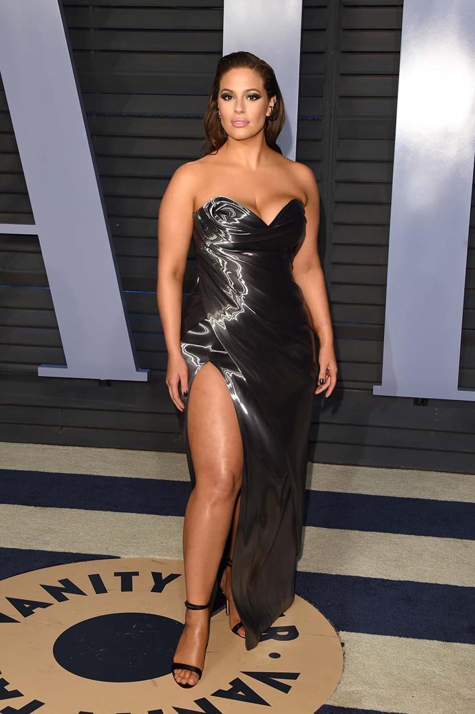 Ashley Graham at the *Vanity Fair* Oscars party.