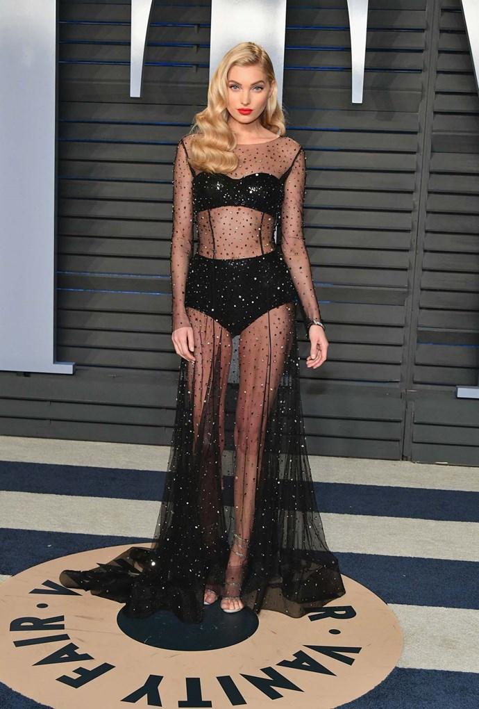 Elsa Hosk at the *Vanity Fair* Oscars party.