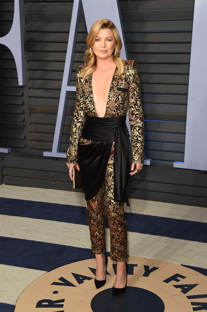 Ellen Pompeo at the *Vanity Fair* Oscars party.