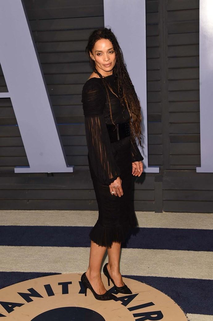 Lisa Bonet at the *Vanity Fair* Oscars party.