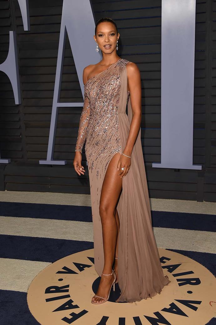 Lais Ribeiro at the *Vanity Fair* Oscars party.