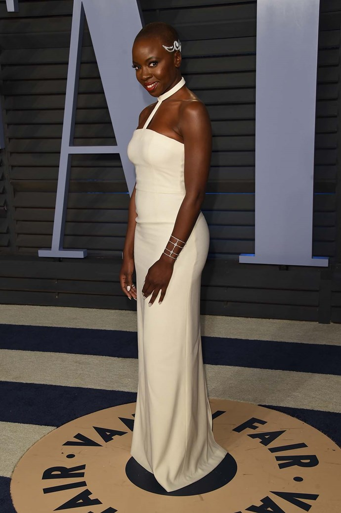 Danai Gurira at the *Vanity Fair* Oscars party.