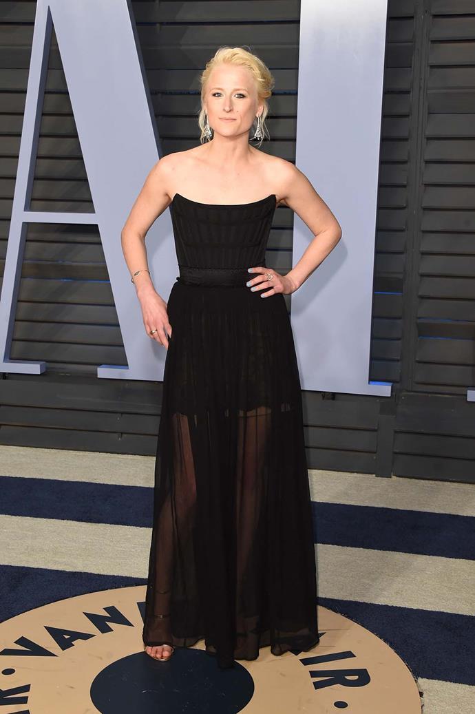Mamie Gummer at the *Vanity Fair* Oscars party.