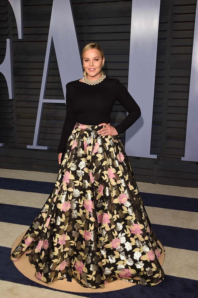 Abbie Cornish at the *Vanity Fair* Oscars party.