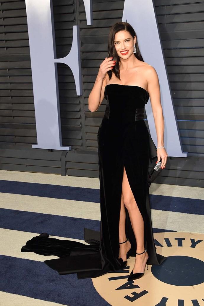 Adriana Lima at the *Vanity Fair* Oscars party.