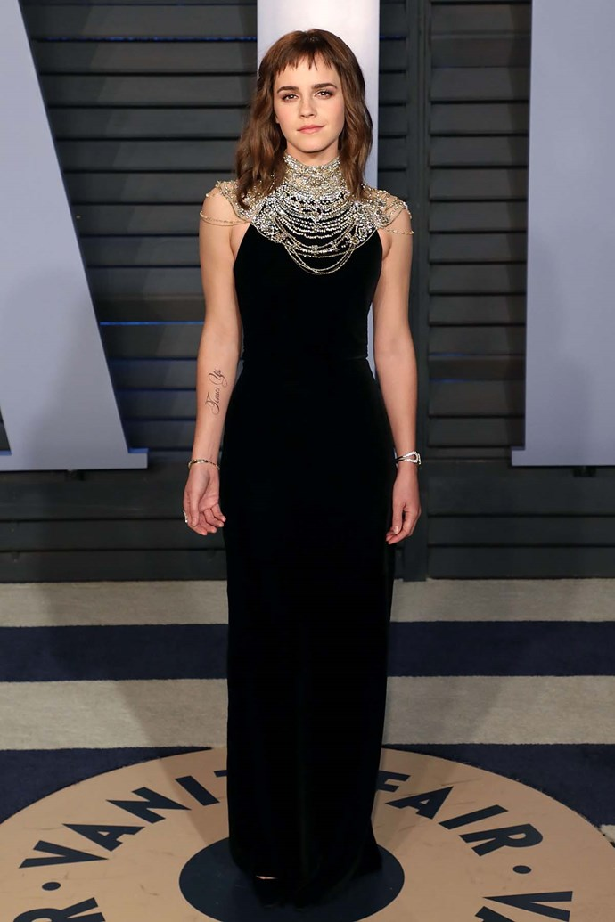 Emma Watson at the *Vanity Fair* Oscars party.