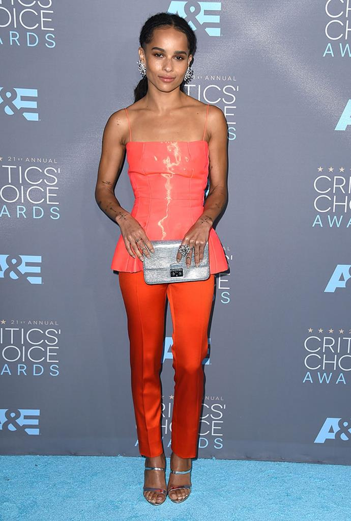 Wearing Dior Haute Couture at the Critics' Choice Awards, January 2016