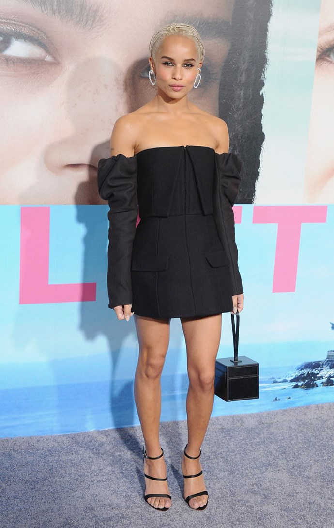 Wearing Vera Wang at the *Big Little Lies* LA premiere, February 2017