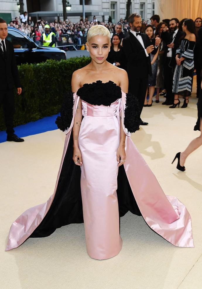 Wearing Oscar de la Renta at the Met Gala, May 2017