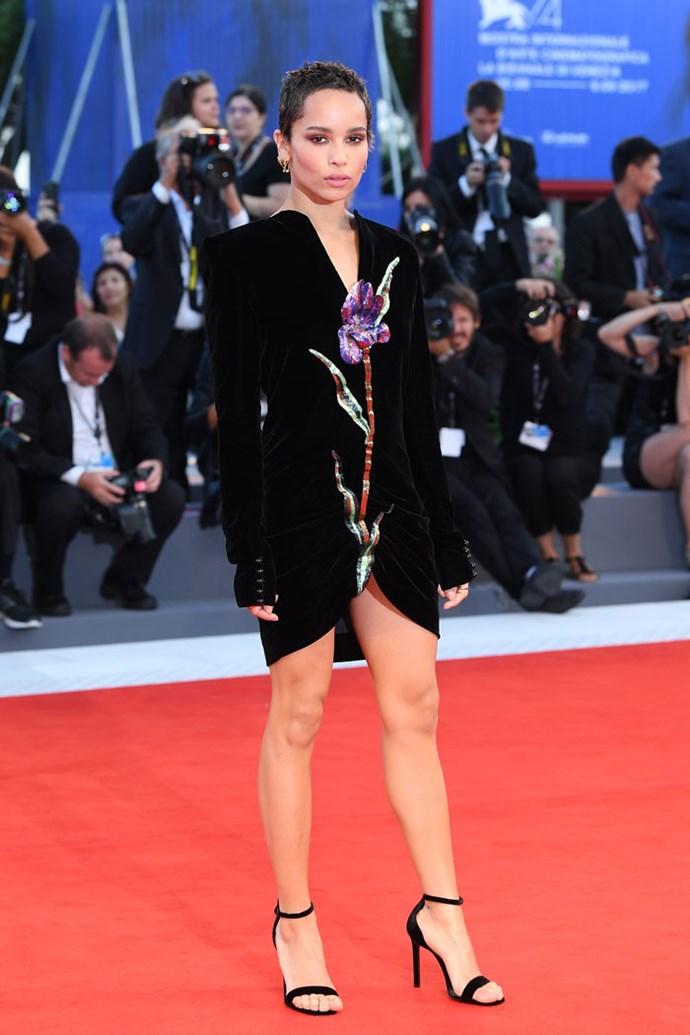 Wearing Saint Laurent at the Venice Film Festival, September 2017