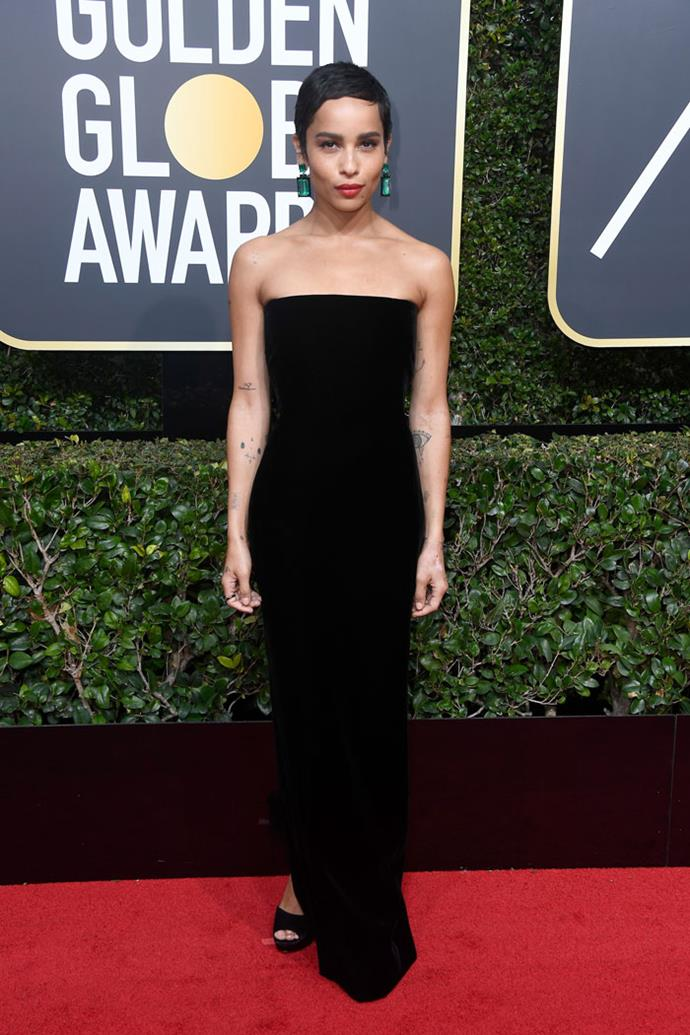 Wearing Saint Laurent at the Golden Globes, January 2018