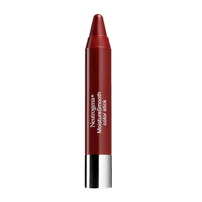 "Neutrogena Moisturesmooth Colour Stick in 'Classic Red', $10 at [Amazon](https://www.amazon.com/Neutrogena-Moisturesmooth-Color-Stick-Classic/dp/B01FYMP65C?th=1|target=""_blank""