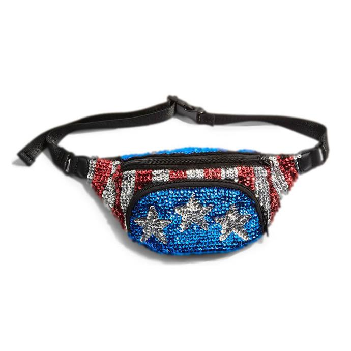 "Belt bag by Topshop, $62 at [Nordstrom](https://shop.nordstrom.com/s/topshop-florida-sequin-bum-bag/4937121?origin=keywordsearch-personalizedsort&fashioncolor=BLUE%20MULTI|target=""_blank""