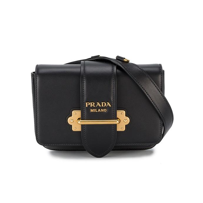 "Belt bag by Prada, $2,400 at [Farfetch](https://www.farfetch.com/au/shopping/women/prada-black-cahier-leather-belt-bag-item-12339414.aspx?storeid=9359|target=""_blank""