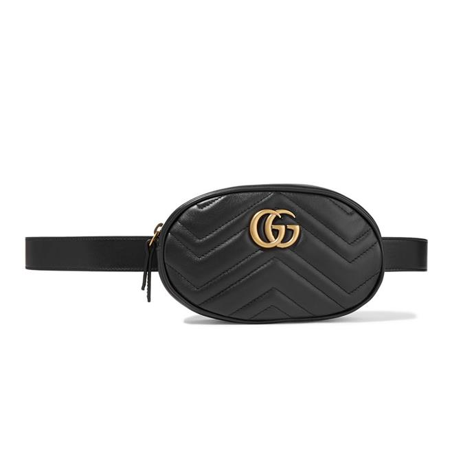 "Belt bag by Gucci, $1,285 at [Net-a-Porter](https://www.net-a-porter.com/au/en/product/993139/Gucci/gg-marmont-quilted-leather-belt-bag|target=""_blank""