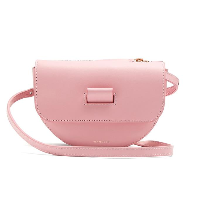 "Belt bag by Wandler, $464 at [MATCHESFASHION.COM](https://www.matchesfashion.com/au/products/Wandler-Anna-leather-belt-bag--1201636|target=""_blank""