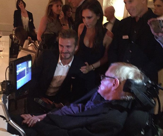 The Beckhams meet Stephen Hawking