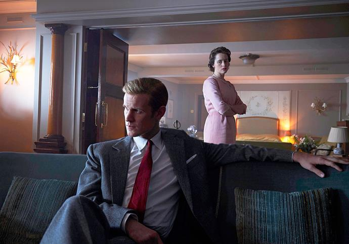 "**Claire Foy and Matt Smith, *The Crown*** <br><br> While their salaries were not disclosed, producers of *The Crown* confirmed at a conference that Matt Smith, who played Queen Elizabeth's husband Prince Philip in the show's first two seasons, was [paid more than Claire Foy](https://www.harpersbazaar.com.au/culture/the-crown-claire-foy-matt-smith-gender-pay-gap-15997|target=""_blank""), who portrayed *the Queen*. The pay disparity was reportedly because of Smith's fame and profile from *Doctor Who*. Producer Suzanne Mackie said the show would change this for future seasons. ""Going forward, no one get paid more than the Queen,"" she said. Foy will be replaced by Olivia Colman. <br><br> In a March interview with [*Entertainment Weekly*](http://ew.com/tv/2018/03/24/claire-foy-the-crown-pay-controversy/