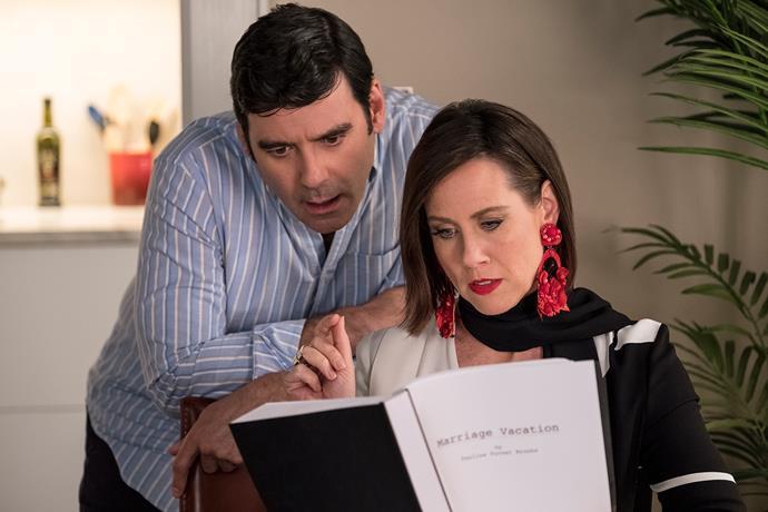Richard (Mather Zickel) and Diana (Miriam Shor)