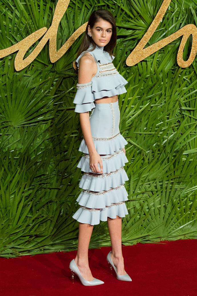 At the Fashion Awards, 12 April 2017.